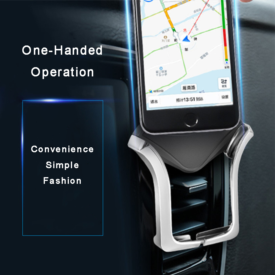 Купить с кэшбэком Car Phone Holder For Huawei P30 P20 Pro P10 P9 lite Y7 Car Holder Air Vent Mount Mobile Phone Holder support smartphone voiture
