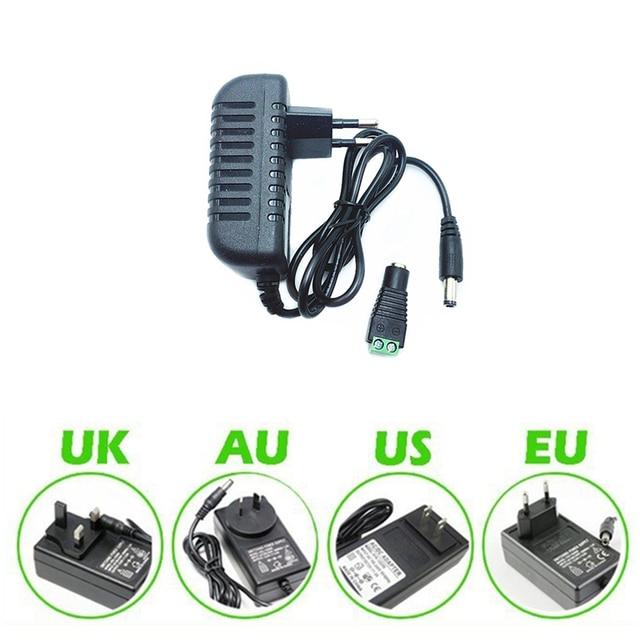 DC12V 2A מתאם AC100 240V תאורת רובוטריקים החוצה לשים DC12V אספקת חשמל עבור LED הרצועה + מחבר