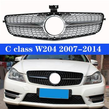 For MERCEDES-BENZ W204 DIAMOND GRILLE C-CLASS C200 C300 C220 C280 2007 2008 2009 2010 2011 2012 2013 2014 image