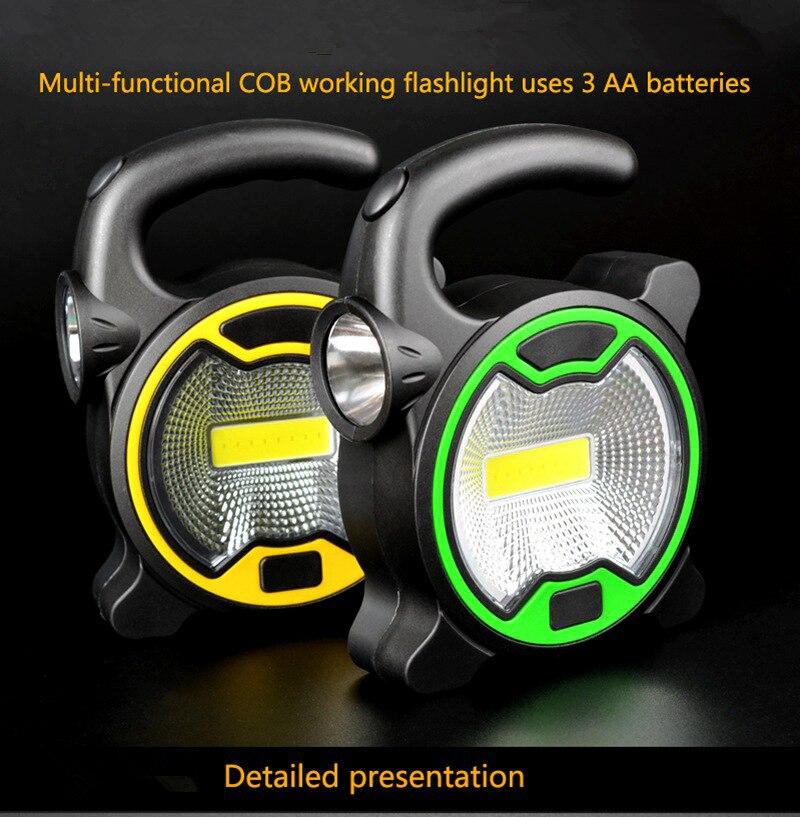 COB Work Lamp LED Portable Lantern Waterproof Emergency Portable Spotlight Rechargeable Floodlight For Camping Light Flashlight