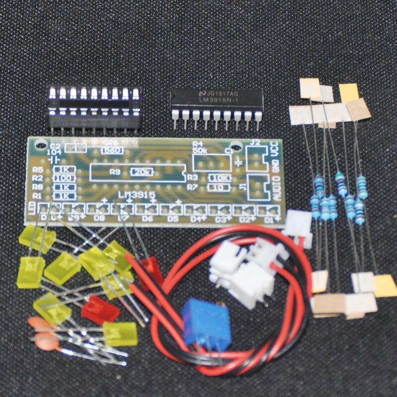 1PCS LM3915 Audio Level Indicator DIY Kit Electronic Production Suite Trousse LED Lights Level Indicating DC 9-12V Parts New