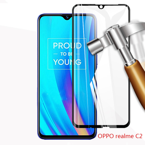 Image 5 - 3D מלא דבק מזג זכוכית עבור Oppo A1K Oppo Realme 3 מלא מסך כיסוי מסך מגן סרט עבור Oppo Realme c1 C2