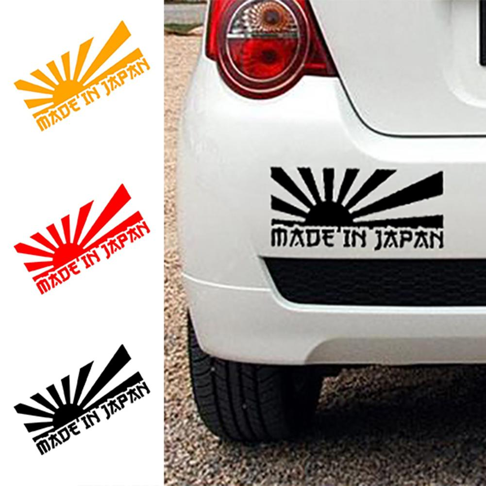 Made In Japan Letter Car Styling Decorative Stickers Reflective Auto Decals 2019
