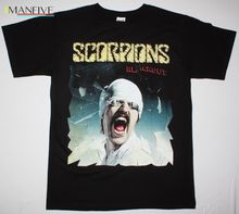 SCORPIONS BLACKOUT82 HARD ROCK MICHAEL SCHENKER GROUP UFO NEW BLACK T-SHIRT Fashion Tshirt Hipster Cool Tops Hot 2019