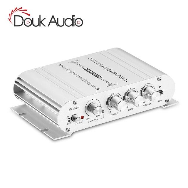 مضخم صوت Douk Audio Mini بـ 2.1 قناة, مضخم صوت ستيريو ، مضخم صوت للمنزل/السيارة/مكبر الصوت البحري لمكبرات الصوت