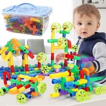 26-288 шт водяные трубы строительные блоки DIY сборка туннель из труб блоки детские 3D строительные игрушки для детей Подарки