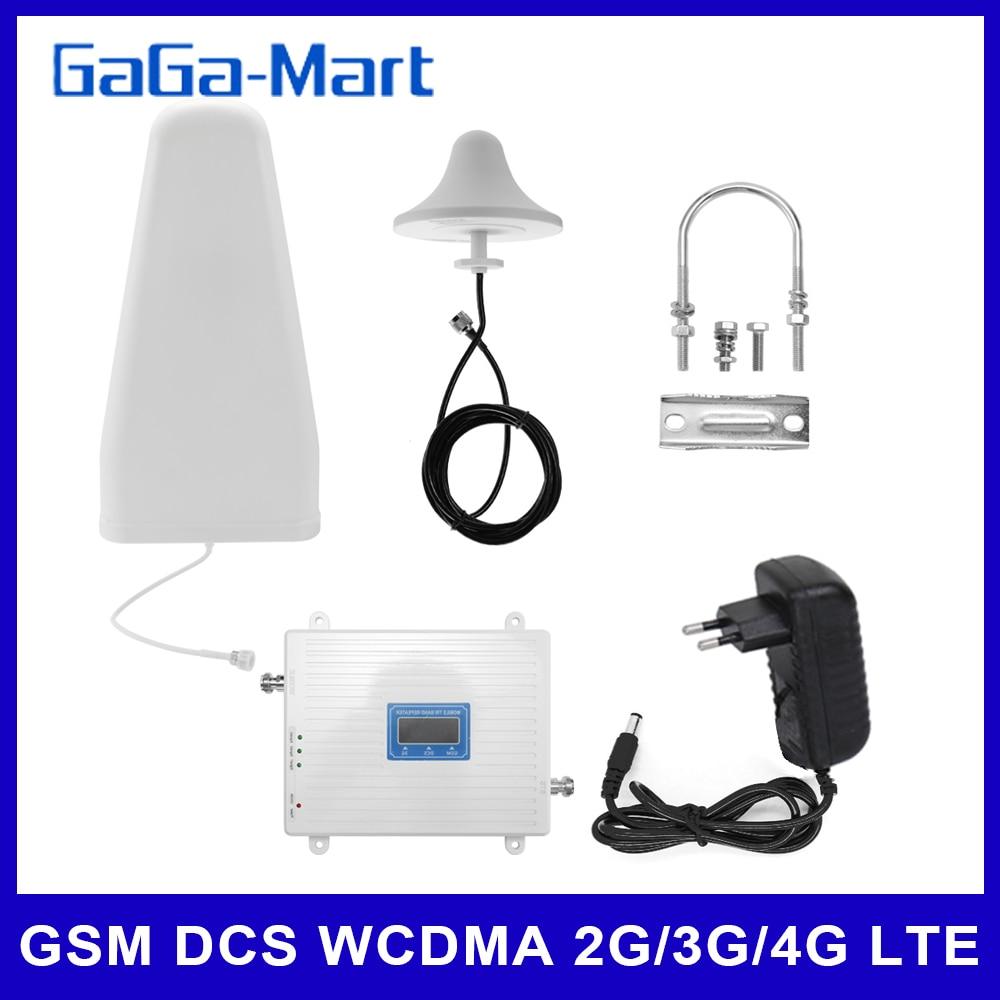 110-220V Tri Band Verstärker 900 1800 2100 GSM DCS WCDMA 2G/3G/4G LTE Universal Signal Booster Intelligente Repeater Kit