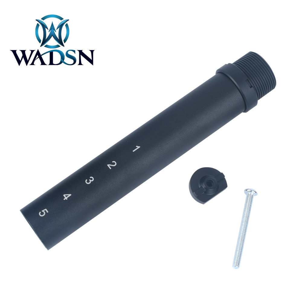 WADSN 6 Position Metal Buffer <font><b>Tube</b></font> For <font><b>M4</b></font>/M16 Series Airsoft AEG Rifles Retractable Stock ME07001 Shooting Paintball Accessories image