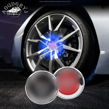 Car styling accessories 4pcs set BLUE LED Light Wheel Center Caps Hub Cover For Jaguar XE F-PACE E-PACE