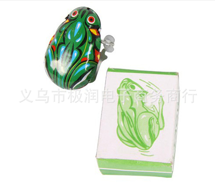 Algam Frog Nostalgic Wind-up Toy Baby Winding Leap Frog Classic Children Stall Toy Hot Selling