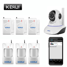 Wifi IP Camera Alarm System Home Security with PIR Motion Sensor,  wireless App Controled  With Night  Infrared Lignt yobangsecurity wireless wifi gsm home security alarm system kit with outdoor ip camera wireless siren pir motion door sensor