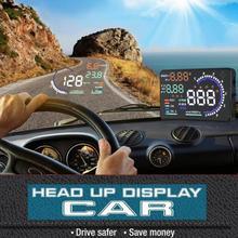 OBD2 автомобильный дисплей 5,5 ''светодиодный проектор скорости лобового стекла OBD сканер топлива Предупреждение ющий сигнал A8 Автомобильный бортовой компьютер
