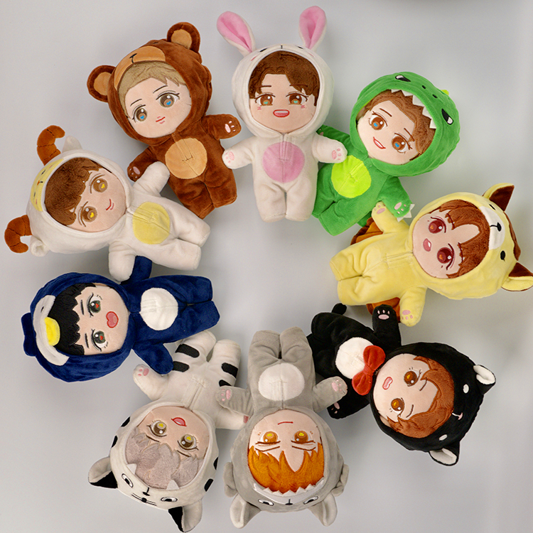 [MYKPOP]KPOP Dolls & Clothes: Doll & Pajama - 20cm Dolls KPOP Fans Collection E9 SA19112501