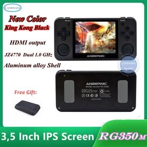 Новая версия HDMI выход Ретро игры RG350M видеоигры, обновленная игровая консоль ps1 64-битная игра opendingux 3,5 дюйма, детский подарок
