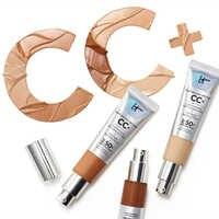 Gesicht Concealer Es Kosmetik CC + Creme SPF50 Volle Abdeckung Medium Licht Basis Flüssige Foundation Make-Up Bleaching Haut Aber besser
