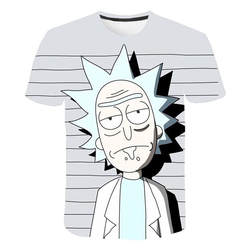 Rick et Morty par Jm2 Art 3D T-Shirt hommes T-Shirt été Anime T-Shirt à manches courtes T-Shirt haut col en o livraison directe