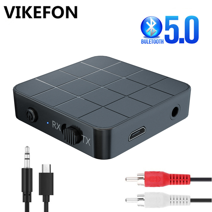 Bluetooth 5.0 4.2 Audio Receiver Transmitter 2 IN 1 3.5mm 3.5 AUX Jack RCA Stereo Music Wireless Adapter For TV PC Car Speakers(China)
