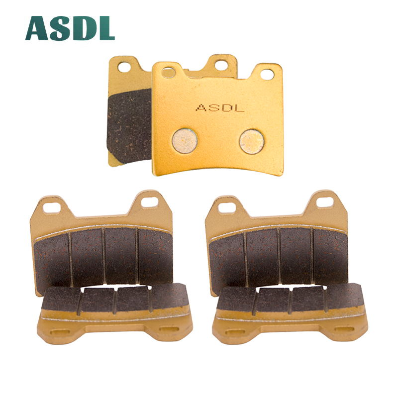 Motorcycle Front and Rear Brake Pads For Yamaha XJR 1300 (5EA1/5EA7) Brembo calipers(320mm front discs) 1998-1999 #b