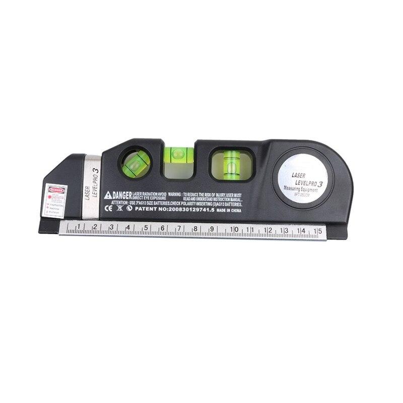 Лазерный уровень Горизонт Вертикальная мера 8 футов выравниватель стандартные и метрические линейки многоцелевой измерительный уровень Лазерный черный - Цвет: Laser Level Only