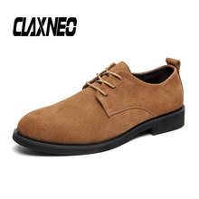 Buy CLAXNEO Man Shoes Suede Leather Male Derby Shoe Autumn Casual Oxfords Mens Walking Footwear directly from merchant!