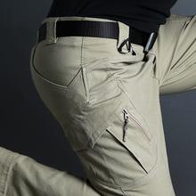 Spodnie taktyczne IX9 miasta męskie spodnie cargo SWAT Army wojskowe bawełna Stretch mężczyzna na co dzień wielu kieszenie spodnie tanie tanio ESDY Cargo pants COTTON spandex 76 - 103 W stylu Safari Wysokiej Zipper fly Pełnej długości Mieszkanie Midweight REGULAR