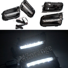 2pcs For Mazda 6 2006 2007 2008 2009 LED DRL Daytime Running Light white light Daylight Waterproof Turn Signal lamp(China)