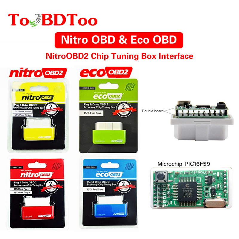 NitroOBD2 Gasoline For Benzine Cars Chip Tuning Box More Power & Torque Nitro OBD2 Plug And Drive Nitro OBD2 Tool