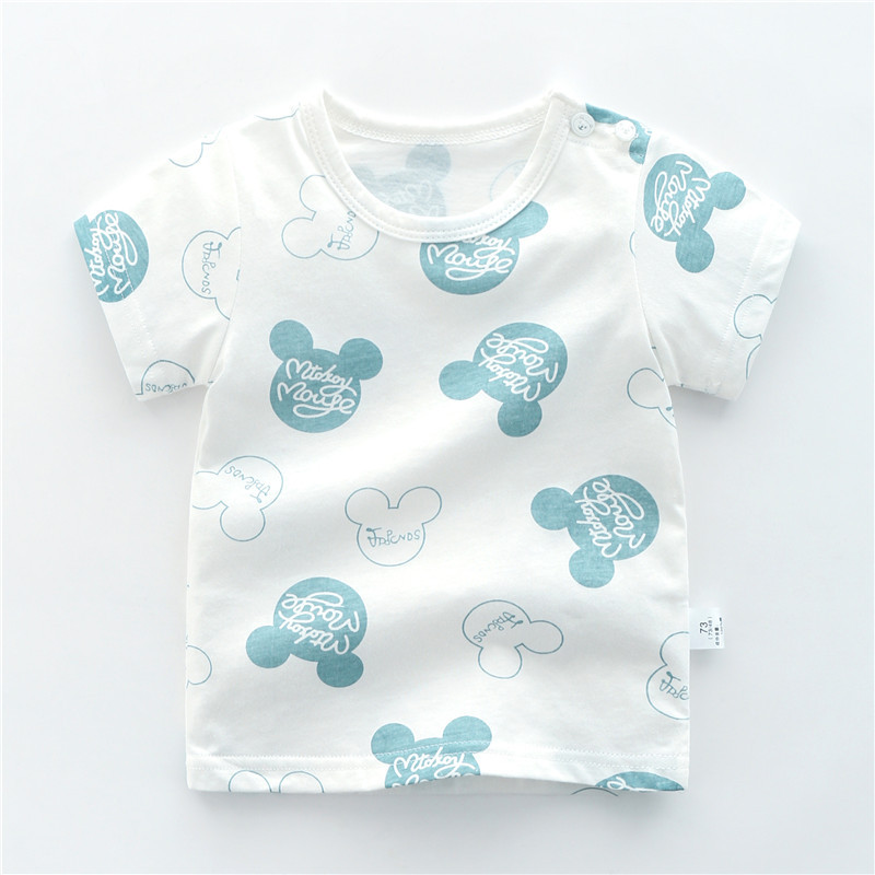 0-2Y New Summer Infant Kids Short Sleeve Tees Cartoon Baby Boys T-Shirts For  Baby Boy Girl  Clothes Cotton Toddler Tops
