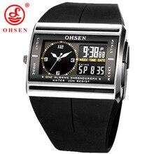OHSEN Brand LCD Digital Dual Core Watch Waterproof Outdoor Sport Watche