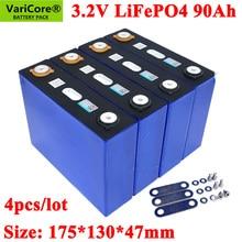 Batteries Lithium-Iron 90000mah 90ah Lifepo4 4PCS Varicore for 12V Phospha 90000mah/Can/Make-boat-batteries/Car-batteriy