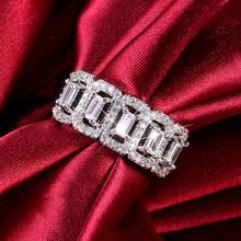 Роскошные квадратные свадебные кольца ustar с геометрическим