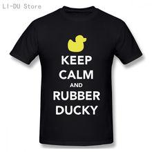 Футболка мужская с надписью keep calm and rubber ducky футболка
