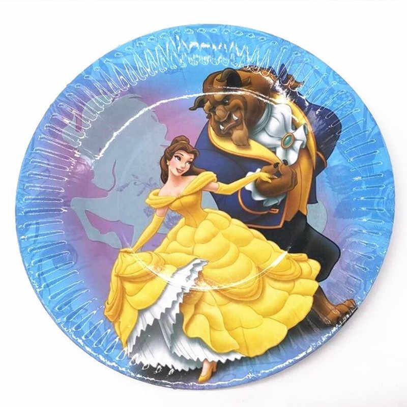 الجمال والوحش تحت عنوان لوازم الطاولة/المائدة قابل للتصرف الزفاف الاطفال حفلة عيد ميلاد الديكور استحمام الطفل الجمال والوحش لوازم الحفلات