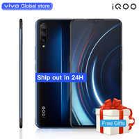 Autorizzato vivo celular iQOO Del Telefono Mobile 6.41 pollici Grande schermo Android 9 Snapdragon 855 NFC 4000mAh 44W veloce Carica Cellulare
