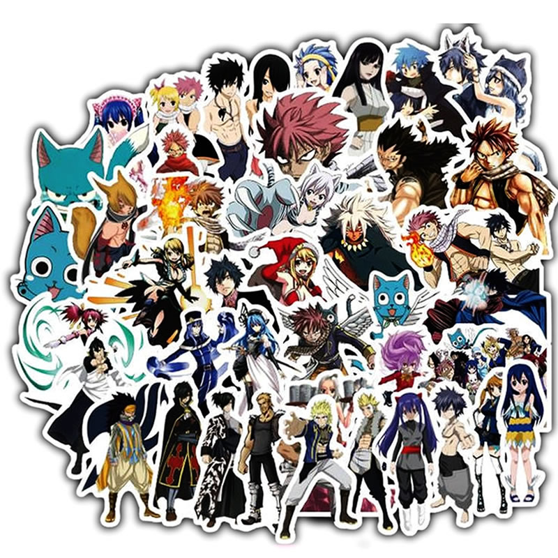 Japanese Anime Fairy Tail Waterproof Stickers Skateboard Suitcase Motorcycle Laptop Children Graffiti Stickers Kids Classic Toy