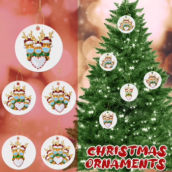 2020 Christmas Ornaments Hanging Decoration Gift Product Personalized Family Santa Claus Ornament Pendants Hanging party gifts image