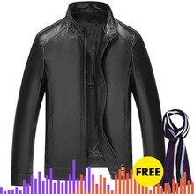 Мужские кожаные куртки, пальто, Мужская теплая коричневая черная куртка для мужчин, верхняя одежда, мужские пальто
