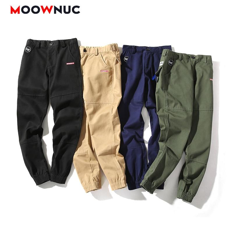 Men's Trouser Ankle-Length Casual Jogger 2020 New 100%Cotton Cargo Fashion Sweatpants Haren Pants Solid Male Streetwear Hip Hop