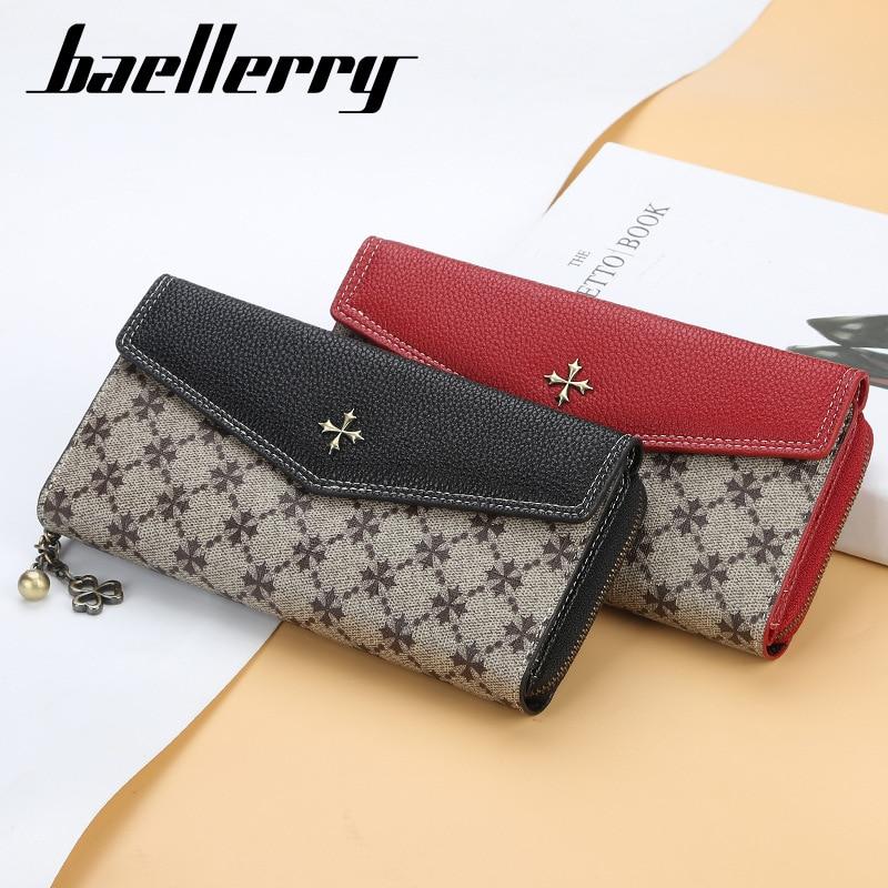 Women's Long Slim Wallet Creative Pattern Phone Wallet Large Capacity Zipper Hand Bag Luxury Designer Louis Money Clip