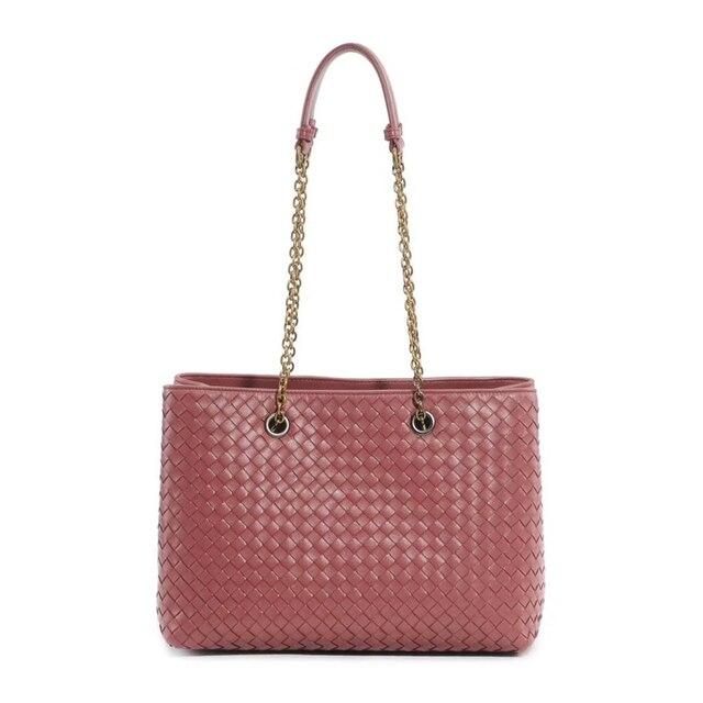 Womens Shoulder Bag 100% Sheepskin Leather Tote Shopping Bag Luxury Brand Design Handbag Fashion Simple Large Capacity 2020 New