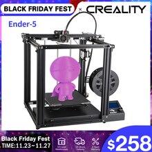 Creality 3d impressora Ender 5 duplo y axis motores placa de construção magnética power fora retomar máscaras de impressão estrutura fechada