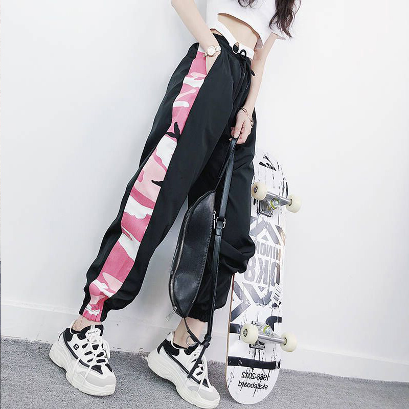 Korean Style Ulzzang High Waist Solid Loose Harem Pant Women Jogger Sweatpants Casual Cargo Trousers Female Street Wear