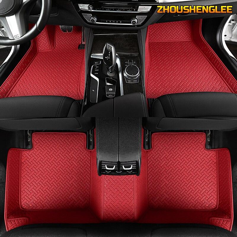 ZHOUSHENGLEE tapis de sol de voiture sur mesure pour Skoda tous les modèles octavia fabia rapid superbe kodiaq yeti accessoires de voiture de style de voiture