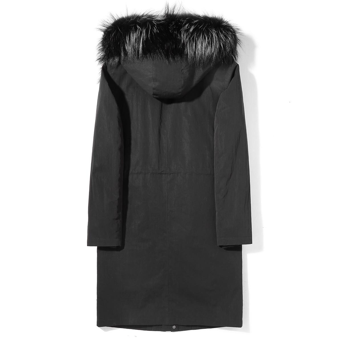 Real Fur Coat Men Parka Long Winter Jacket Man Natural Rabbit Fur Liner Fox Fur Collar Parkas De Hombre S9SBSP006 KJ3516
