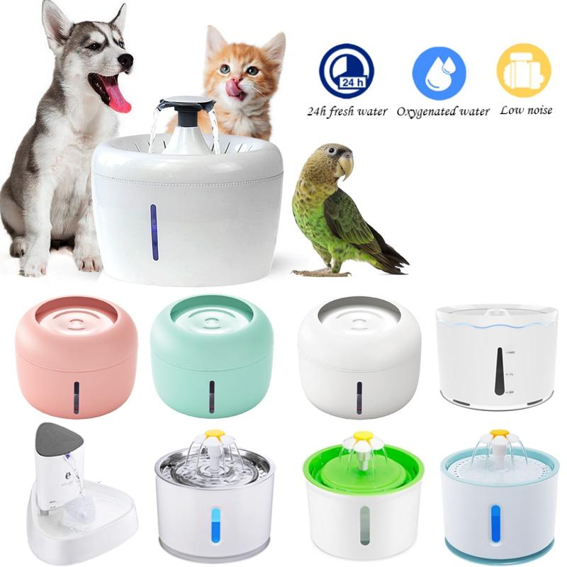 Gato fonte de água cão beber tigela pet usb dispensador de água automático led super silencioso bebedor alimentador automático para gatos cão