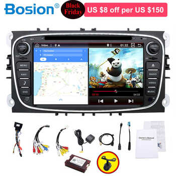 car radio 2 din Android 9.0 car dvd cassette player for ford for focus 2 tape recorder gps navigation wifi steering wheel 4G RAM - Category 🛒 Automobiles & Motorcycles