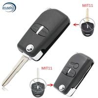 Carcasa de llave remota plegable modificada, 2 botones para-MITSUBISHI Grandis Outlander Switchblade Fob MIT11 hoja derecha