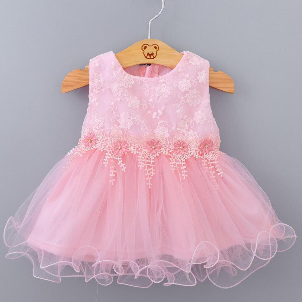 Vestido de batismo recém-nascido para a menina do bebê branco rosa primeiro vestido de festa de aniversário vestir bonito rendas batismo tutu roupas infantis
