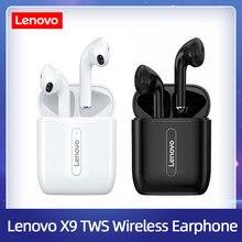 Lenovo x9 fone de ouvido sem fio bluetooth v5.0 controle toque fones estéreo hd falando com 300mah bateria com microfone fone ouvido