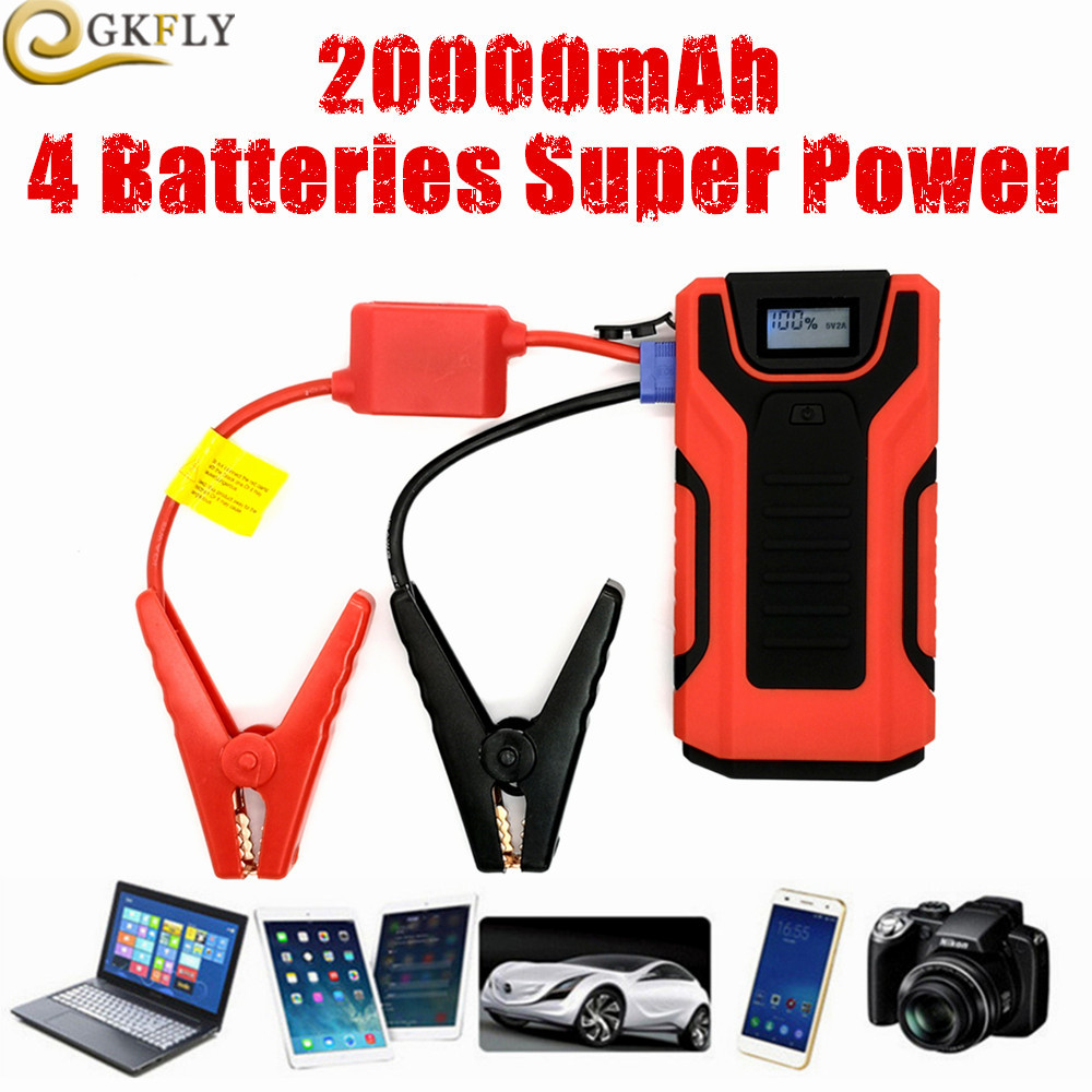 2019 Super Power Jump Starter 20000mAh Capacity Power Bank 12V 800A Auto Starting Device Emergency Car
